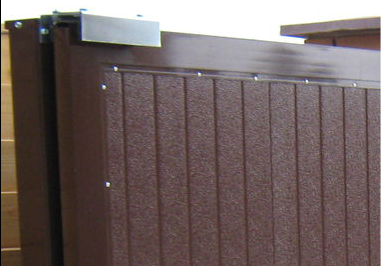 Тщательная обработка сварных швов ворот 1