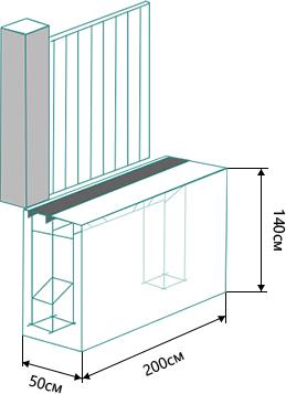 Монтаж откатных ворот на бетонной тумбе
