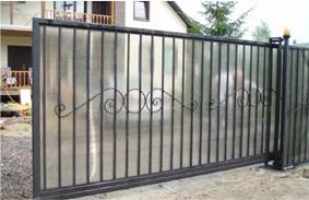 Откатные ворота пример 4